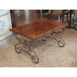 French Rustic Wood & Iron Table Preview