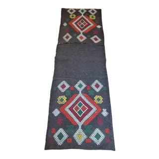 Vintage Kilim Turkish Zili Hand-Woven SaddleBag For Sale