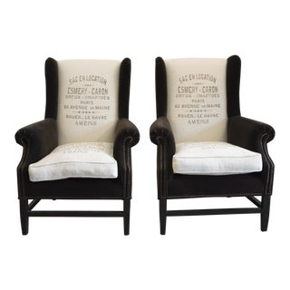 Barclay Butera Home Wingback Chairs - a Pair