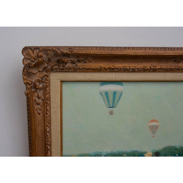 This charming painting was recently acquired from a Palm Beach estate and was created by the American painter Andre Gisson...