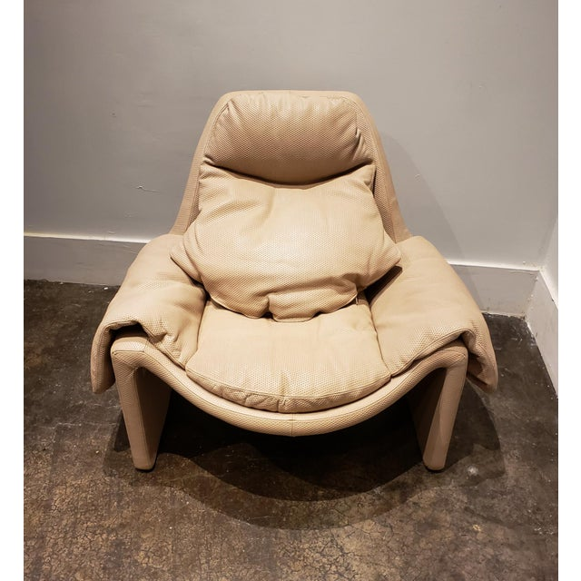 P60 Lounge Chair and Ottoman by Vittorio Introini for Saporiti For Sale In Dallas - Image 6 of 9