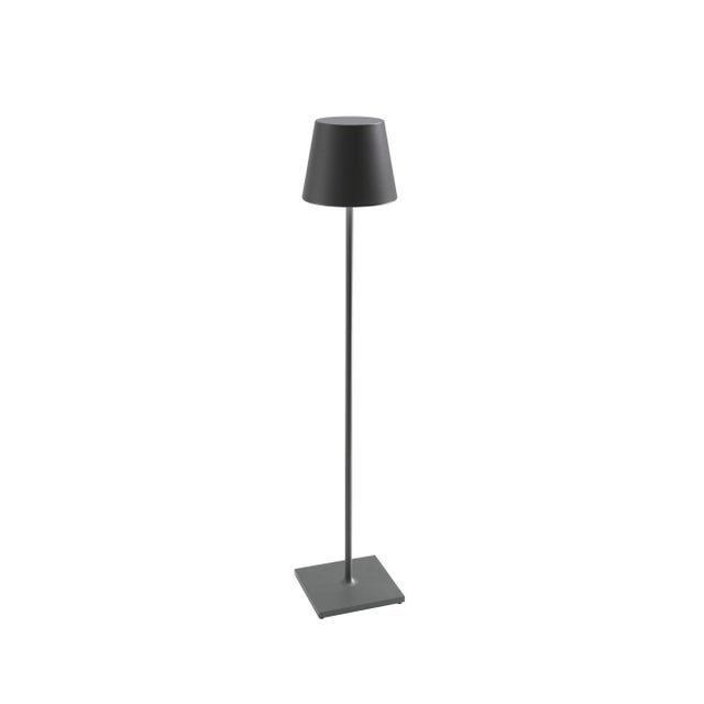 Modern Zafferano Graphite 10W LED Dimmable Rechargeable Indoor/Outdoor Cordless Floor Lamp For Sale - Image 3 of 3