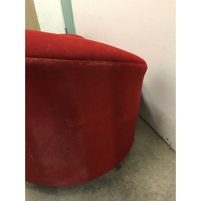 Red Vladimir Kagan Style Cloud Sofa For Sale - Image 8 of 12