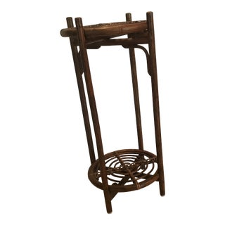 Bamboo Rattan Plant Stand Table For Sale