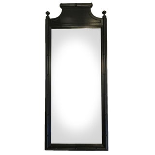 Vintage Lacquered Faux Bamboo Mirror For Sale