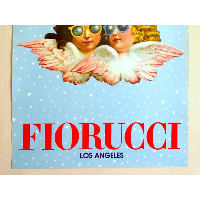 """Various Artists Rare Original Vintage 1980 """" Fiorucci Los Angeles """" New Wave Post Modern Italian Fashion Pop Art Poster For Sale - Image 4 of 11"""