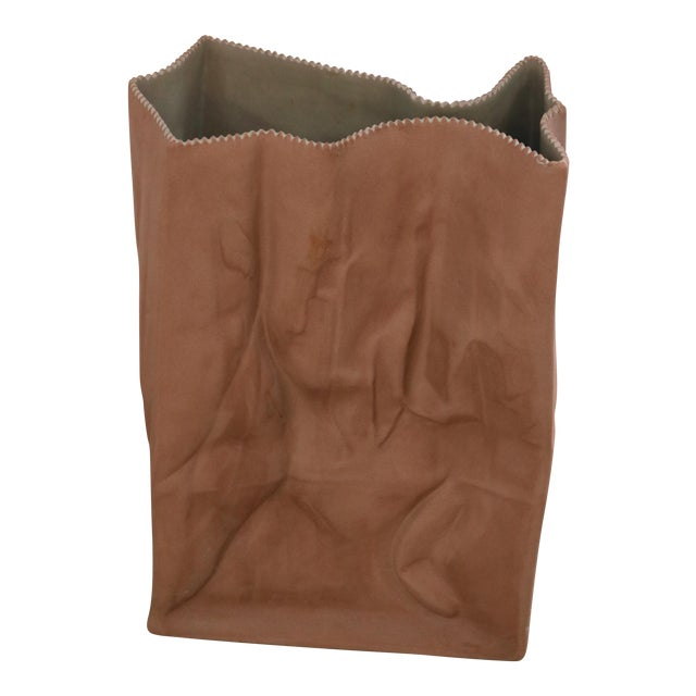 "Tapio Wirkkala ""Do Not Litter"" Paper Bag Vase For Sale"