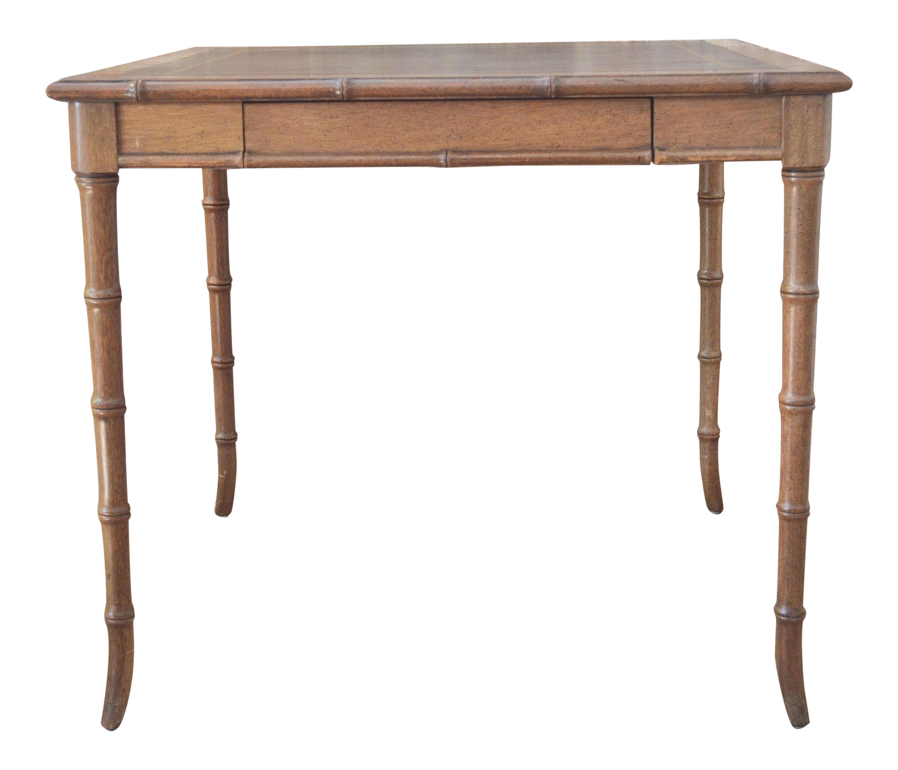 Good Vintage Faux Bamboo Game Table
