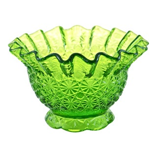 Bright Green Ruffle Rim Bowl