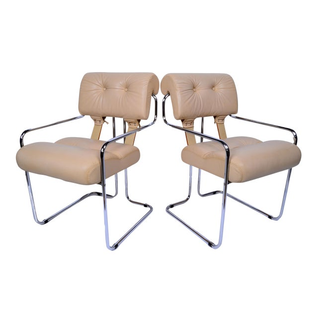 Pace Collection Tucroma Dining Chairs Designed by Guido Faleschini, A Pair For Sale