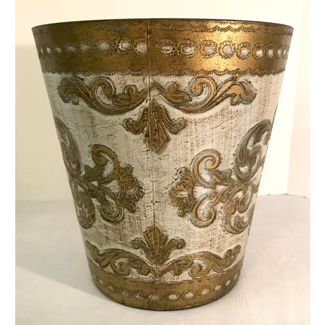 20th Century Italian Florentine Waste Basket For Sale - Image 4 of 8
