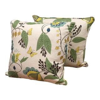Osborne & Little Fabric Pillows - A Pair For Sale