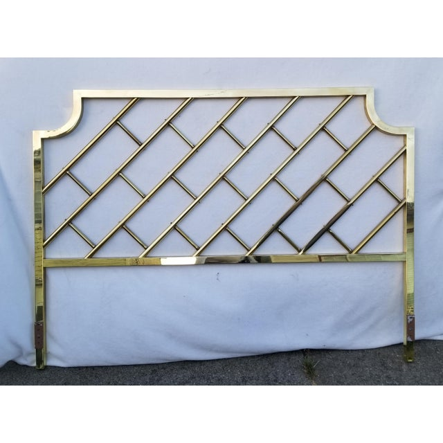 Vintage Chinoiserie Brass California King Headboard For Sale In San Francisco - Image 6 of 6
