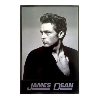 James Dean Foundation Rare Vintage 1995 Iconic Roy Schatt 1954 Photo Collector's Poster For Sale