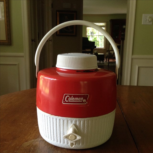Vintage Red Metal & Plastic Coleman Cooler - Image 3 of 11
