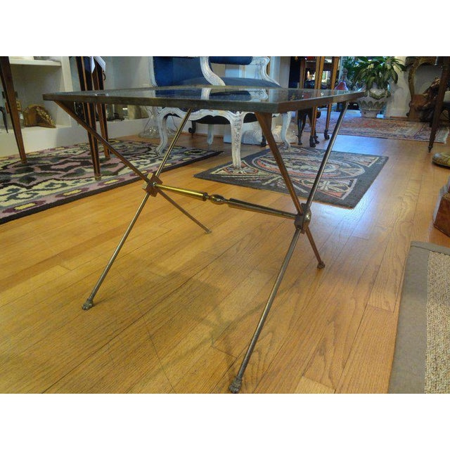 1940s 1940's French Neoclassical Style Brass Side Table For Sale - Image 5 of 8