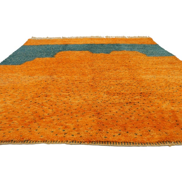 Abstract Expressionism Moroccan Contemporary Berber Area Rug - 08'09 X 10'07 For Sale - Image 3 of 10