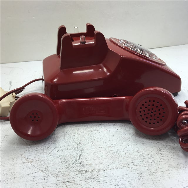 Western Electric Red Rotary Dial Telephone For Sale In San Francisco - Image 6 of 11