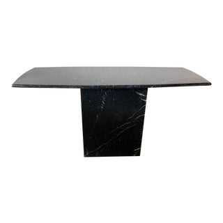 Black Marble Console Sofa Table For Sale