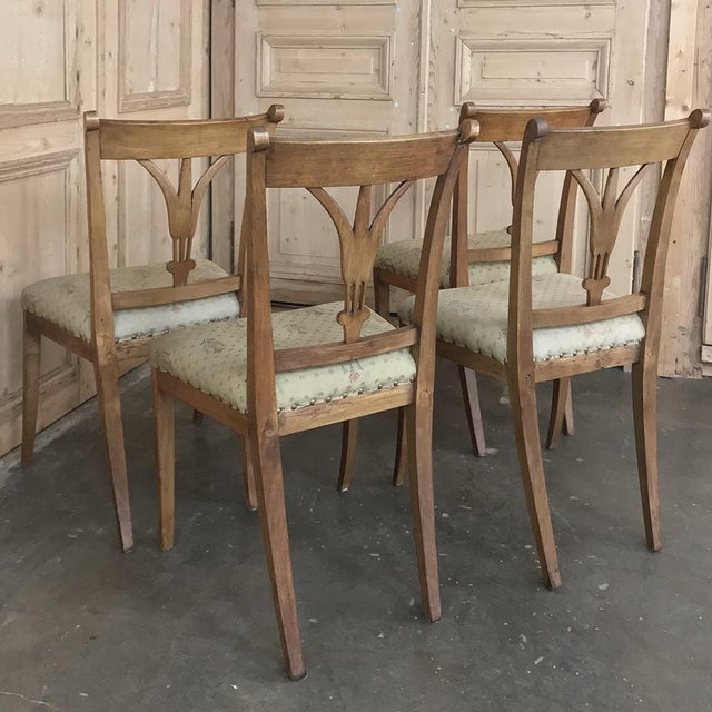 Set of Four 19th Century Swedish Directoire Style Chairs For Sale - Image 11 of 13