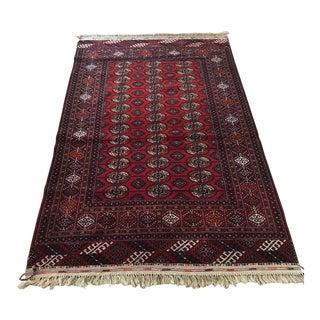 """Vintage Turkomen Bukhara Rug-4'1'x6'8"""" For Sale"""