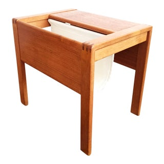 Danish Modern Teak Magazine Rack Table