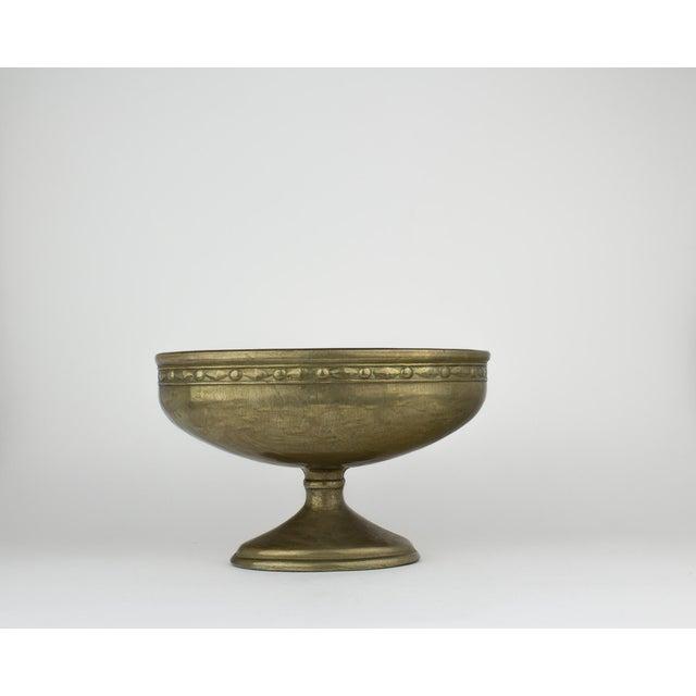 Vintage Brass Pedestal Bowl - Image 11 of 11