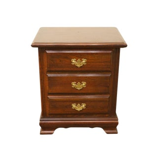 Late 20th Century Vintage Cresent Furniture Cherry Nightstand For Sale