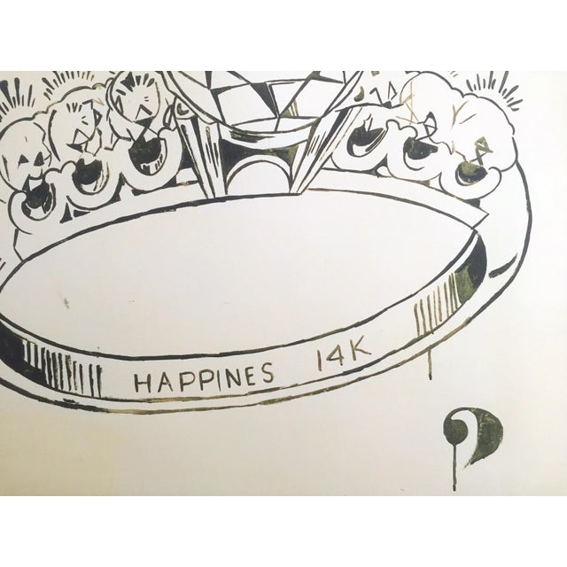 "Andy Warhol Foundation Lithograph Print Pop Art Poster "" 1 Carat Happiness "" 1961 For Sale In Kansas City - Image 6 of 11"
