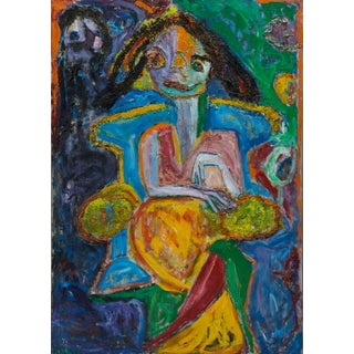 Wyona Diskin Girl in a Blue Chair For Sale