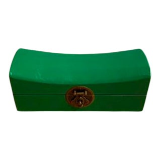Green Saddle Shape Jewelry Box For Sale