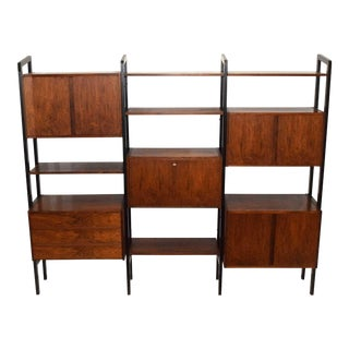 Rosewood Bookcase Storage Unit For Sale