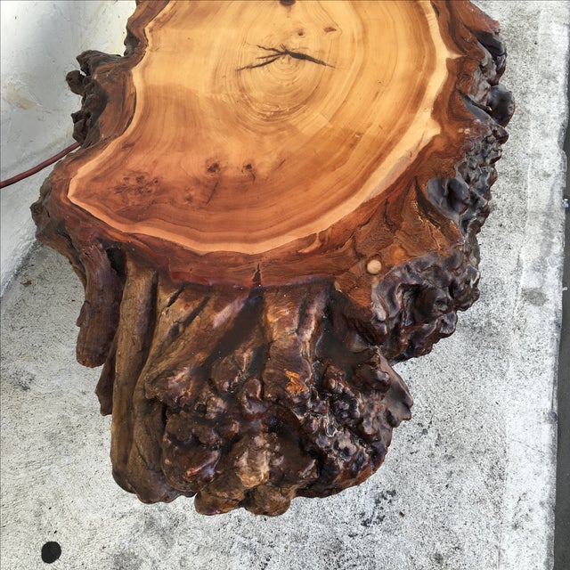 Live Edge Wooden Coffee Table - Image 9 of 11