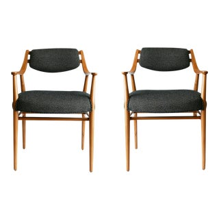 Unusual Scandinavian Chairs - Pair For Sale