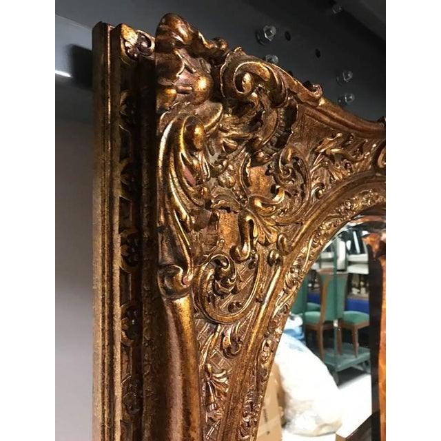 Giltwood Mirror with Ornate Details For Sale - Image 4 of 6