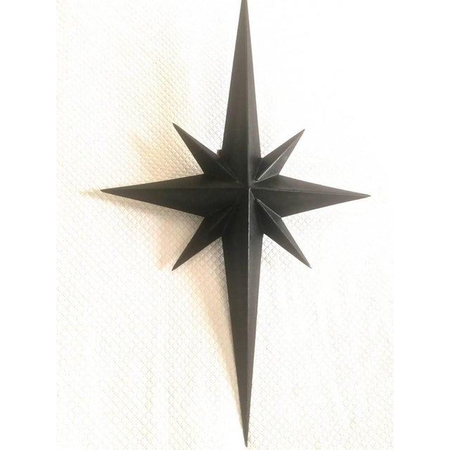 Mid-Century Modern Awesome Pair of Wrought Iron Star Sconces Attributed to Tom Dixon First Period For Sale - Image 3 of 7