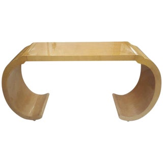Sculptural Lacquered Console Table For Sale