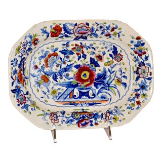 19th C Dresden Opaque China Platter For Sale