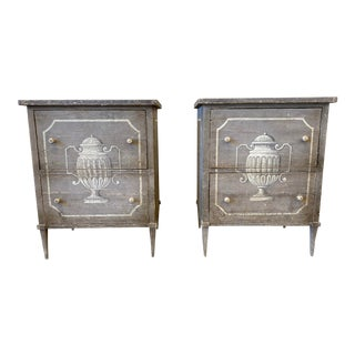 Italian Painted Night Stands For Sale