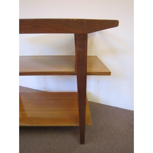 French Mid-Century Modern Walnut Bar Cart Trolley/ Server/ Biblio, Andre Sornay For Sale - Image 9 of 11