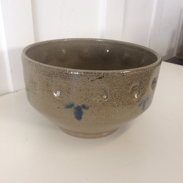 Folk Art 1975 Jugtown-Ware Cachepot For Sale - Image 3 of 9