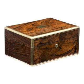 Regency Brass Bound Jewelry Box, Circa 1825 For Sale