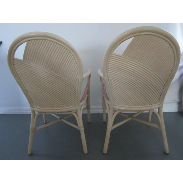 Bamboo McGuire Vintage Hollywood Regency Bamboo Dining Set For Sale - Image 7 of 13