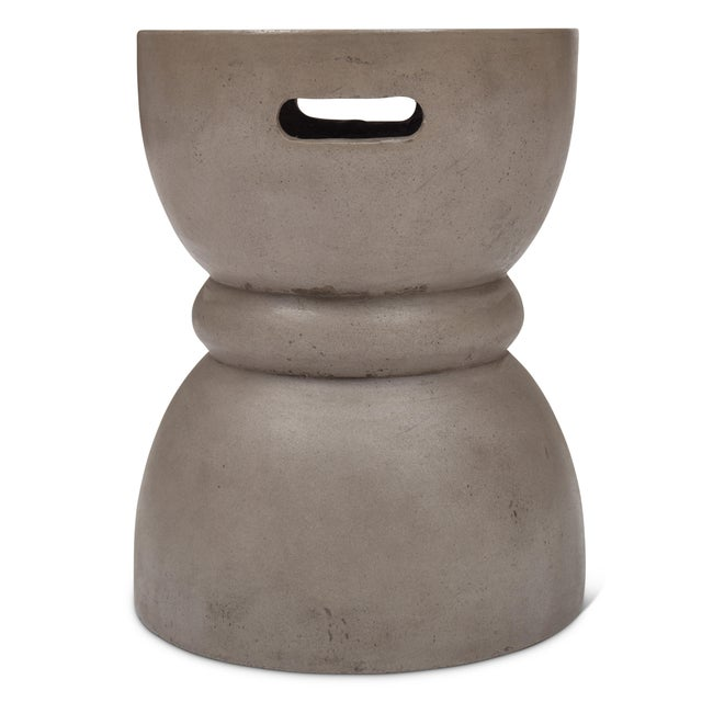 Not Yet Made - Made To Order Phillip Stool, Dark Grey For Sale - Image 5 of 8