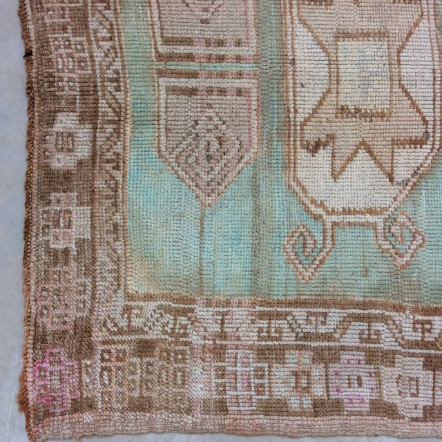 """Textile Vintage Turkish Anatolian Runner Sea Green 7'9""""x3' For Sale - Image 7 of 11"""