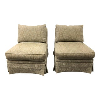 Sherill Furniture Armless Chairs- a Pair For Sale