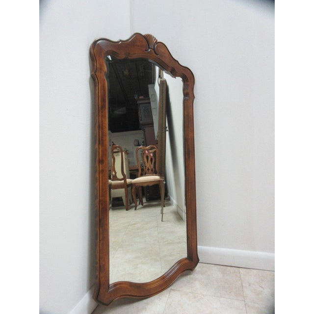 Ethan Allen Slender French Country Console Dresser Hanging Wall Mirror - Image 3 of 5