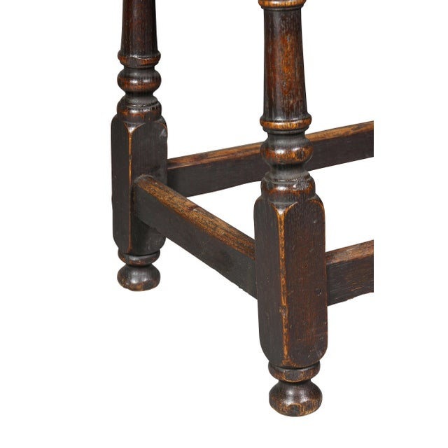 Jacobean Style Oak Bench For Sale In Boston - Image 6 of 10