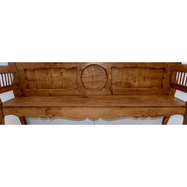 Wood Pine and Oak Bench or Settle For Sale - Image 7 of 13