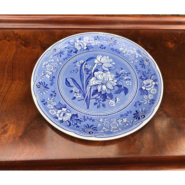 SPODE BLUE ROOM COLLECTION BOTANICAL. Large blue and white plate/platter made in England by Spode China. Measures 12 3/4...